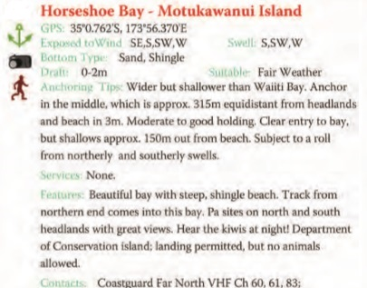 Horseshoe Bay Text