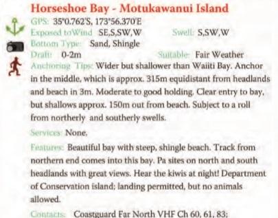 Horseshoe Bay Text