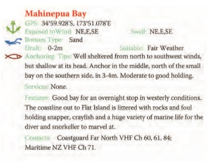 Mahinepua Bay Text