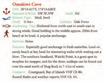 Omakiwi Cove Text