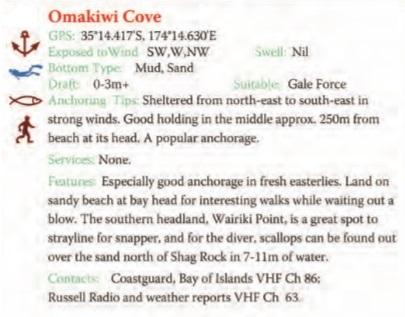 Omakiwi Cove Text