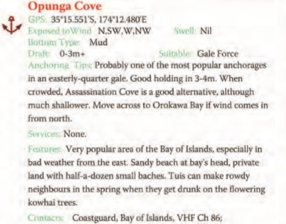 Opunga Cove Text