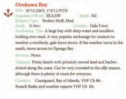 Orokawa Bay Text