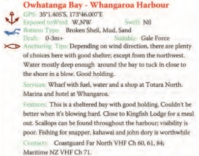 Owhatanga Bay Text