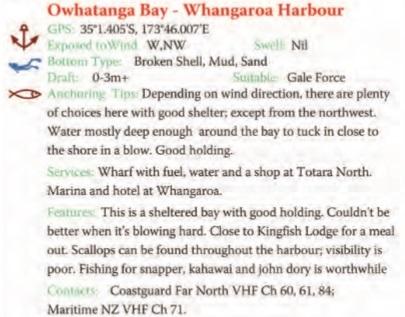 Owhatanga Bay Text