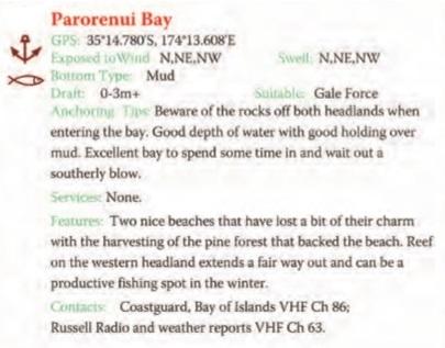 Parorenui Bay Text