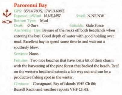 Parorenui Bay Text
