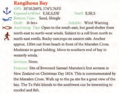 Rangihoua Bay Text