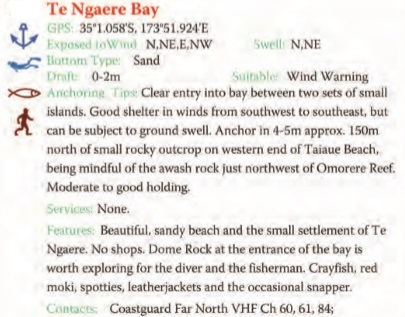 Te Ngaere Bay Text