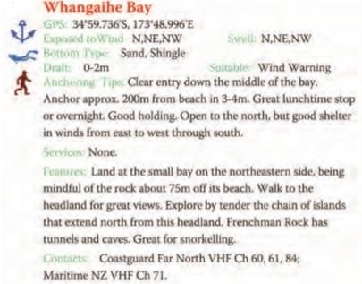 Whangaihe Bay Text