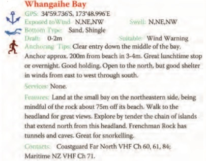 Whangaihe Bay Text